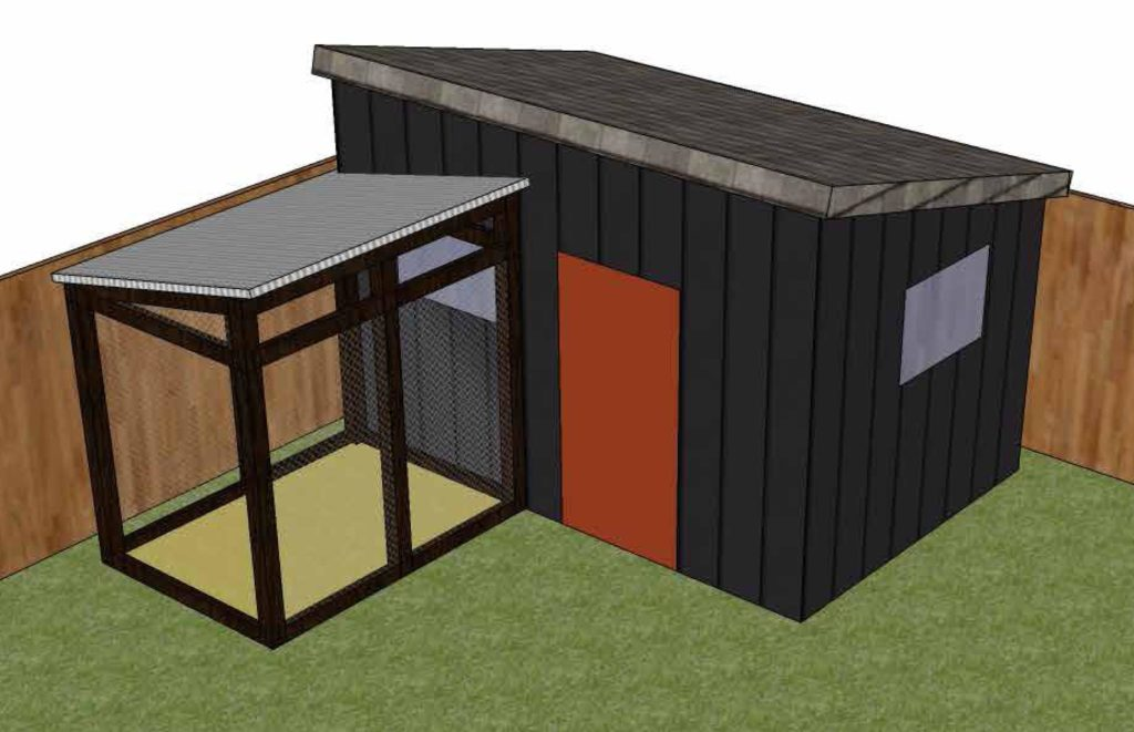 Chicken Coop Shed Combo